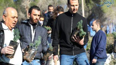 Photo of حملة تشجير بجبال طرطوس باشراف الرئيس الأسد وسيدة الياسمين وبمشاركة ابنائهم-صور