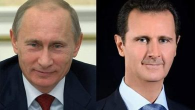 Photo of President al-Assad in a cable to President Putin: We aspire that the two countries will realize further achievements in the New Year in combating terrorism and enhancing bilateral relations