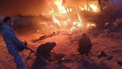 Photo of Terrorist attack on vehicle on Deir Ezzor-Tadmur Highway