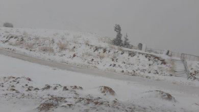 Photo of تساقط الثلوح على قمم جبل الشيخ