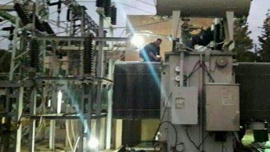 Photo of إصلاح عطل لمحولة كهربائية باستطاعة 30 ميغا في محطة تحويل مدينة السويداء