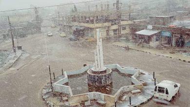 """Photo of بالصور – ثلوج  بلدة """"جباثا الخشب"""" بالقنيطرة"""