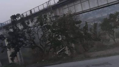 "Photo of Turkish-backed terrorist mercenaries dismantled, stole and sabotaged the ""Badama"" railway bridge"