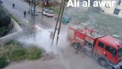 Photo of Fire in the electricity transformer west of the National Hospital
