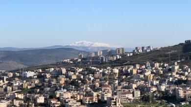 """Photo of """"جبل الشيخ"""" كما يظهر من مدينة الناصرة في الجليل الفلسطيني"""