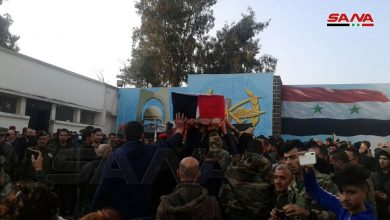 Photo of With official and popular presence, Homs bid farewell to a group of martyrs of the Heinous terrorist attack