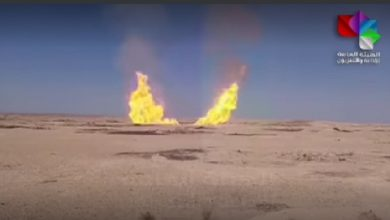 Photo of Ministry of Petroleum:  Al-Jabsa-al-Rayyan gas pipeline in Deir Ezzor countryside attacked