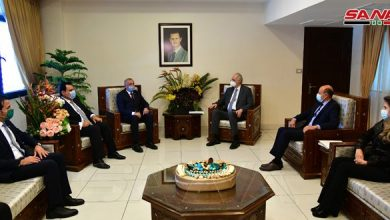 Photo of الجعفري يلتقي وفداً عراقياً بدمشق لبحث التعاون الاقتصادي والتجاري