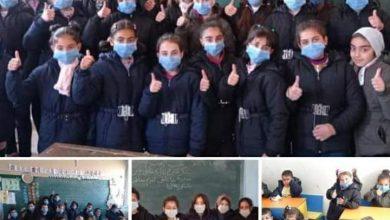 Photo of حملة كلنا أهل تصل إلى قرية مردك و توزيع 740 معطفاً شتوياً