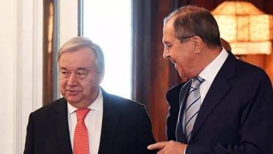 Photo of Lavrov, Guterres discuss means of reaching political solution to crisis in Syria