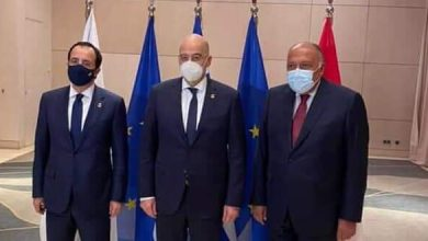 Photo of Egypt, Greece and Cyprus affirm necessity to find political solution to crisis in Syria