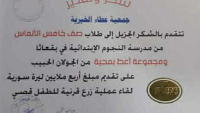 Photo of حملة كلنا أهل تقدم المساعدة لزرع قرنية لطفل من السويداء