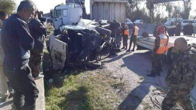 Photo of حادث سير مروع يودي بحياة شخصين و إصابة آخرين على اوتستراد طرطوس بانياس