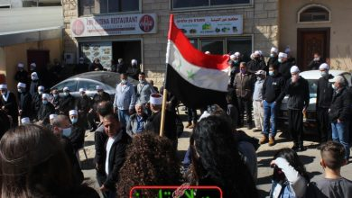 Photo of Popular gathering in Majdal Shams on 39th anniversary of historic strike against Israeli occupation's decision to annex Golan (photos)