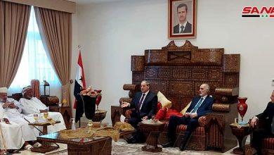 """Photo of مباحثات """"سورية – عمانية"""" لتطوير العلاقات الثنائية"""