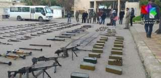 Photo of Competent authorities in Daraa seize quantities of weapons