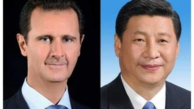 Photo of Chinese President and wife wish quick recovery for President al-Assad and Mrs. Asma al-Assad