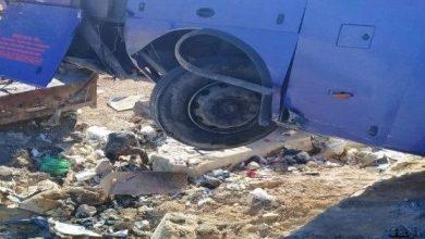 Photo of إصابة 10 أشخاص بتدهور حافلة على أوتوستراد «دمشق ـ حمص»