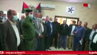 Photo of A delegation from the occupied Golan visited the Jalboun village in Jenin in the West Bank (video)