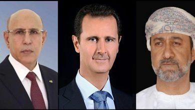 "Photo of سلطان عمان و موريتانيا تهنئ سوريا بـ ""عيد الجلاء"""