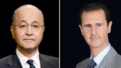 Photo of President al-Assad sends a cable of condolences to Iraqi President Barham Salih