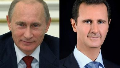 Photo of President Bashar Al-Assad made a phone call with Russian President Vladimir Putin to discuss common issues
