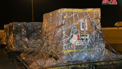 Photo of UAE medical and food aid arrives in Damascus