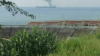 Photo of Fire erupted in one of tanks of oil tanker near oil downstream in Banias fully extinguished
