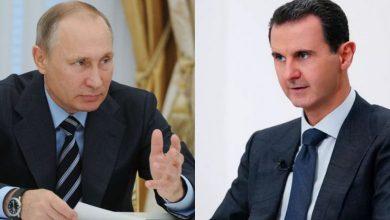 Photo of بوتين يهنئ الأسد بإعادة انتخابه رئيساً لسوريا