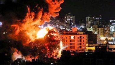 """Photo of الإحتلال يقصف """"غزة"""" بـ 450 صاروخاً فجر الجمعة"""