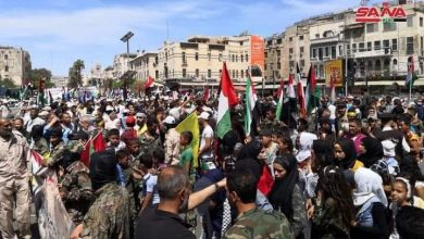 Photo of With wide popular participation, a march sets off in Damascus to commemorate International Quds Day