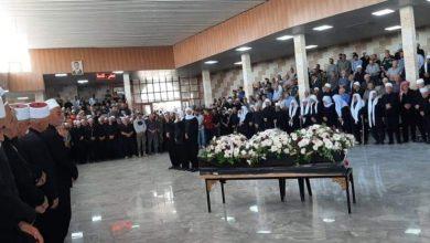 Photo of من تشييع الشهيد الشيخ «البطل تحرير محمود» في بلدة حضر