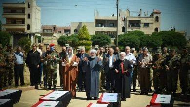 Photo of تشييع كوكبة من الشهداء مجهولي الهوية بحمص