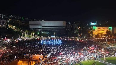 Photo of Syrians celebrate the winning of Dr. Bashar Al-Assad, raise the flag of hope with work