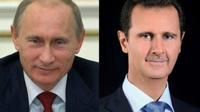 Photo of الرئيس الأسد يهنئ الرئيس بوتين بعيد النصر على النازية