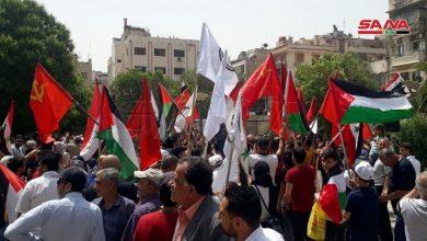 Photo of بالصور-دمشق تحتفل بنصر غزة