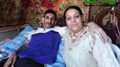 Photo of جريح حرب يعرب حمشو و أمه إرادة كبيرة لإكمال دراستهما (فيديو)