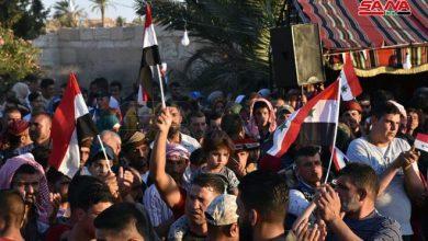 Photo of احتفال جماهيري لأهالي مدينة تدمر وباديتها بفوز الدكتور بشار الأسد بالانتخابات الرئاسية