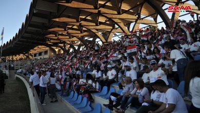 Photo of احتفال جماهيري بمدينة تشرين الرياضية باللاذقية بمناسبة الاستحقاق الرئاسي