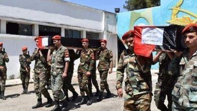 Photo of بالصور – تشييع شهداء العدوان الإسرائيلي من المشفى العسكري بحمص
