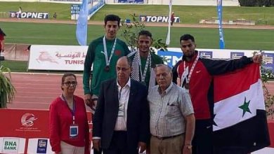 Photo of Two bronze medals for Syria in Arab track and field championship of Tunisia