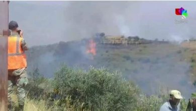 Photo of Fire broke out in the western countryside of Homs