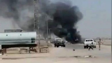Photo of Drone for US occupation attacks truck carrying foodstuffs in Deir Ezzor countryside