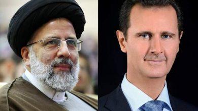Photo of President al-Assad congratulates President Raisi of Iran on winning presidential eelection