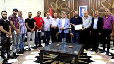 Photo of تكريم العمال الفنيين في فرع المخابز بمحافظة السويداء