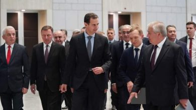 Photo of President al-Assad receives a Russian delegation headed by Alexander Lavrentiev, special envoy of President Vladimir Putin