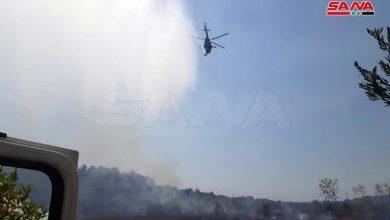 Photo of حوامات الجيش تساعد بإخماد حريق بريف القرداحة