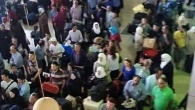 Photo of إدارة مطار دمشق توضح حقيقة الصورة المتداولة لازدحام كبير على بوابة المغادرين