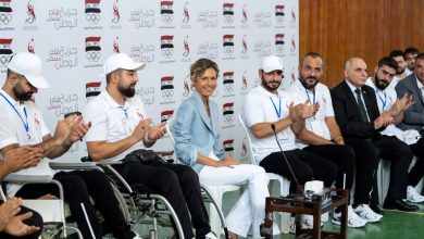 """Photo of In the presence of Mrs. Asma al-Assad, activities of first round of """"Wounded of the Homeland"""" Games kick off in Lattakia"""
