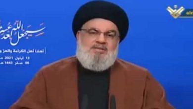 Photo of نصر الله: المحروقات الإيرانية وصلت إلى مرفأ بانياس.. ونشكر القيادة في سوريا